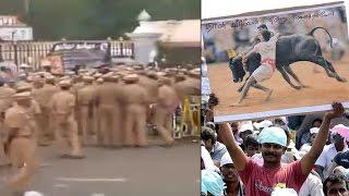 Jallikattu protest: Police attempts to evict people gathered at Marina Beach