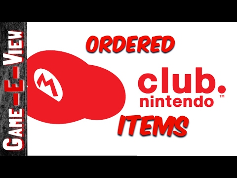 Club Nintendo items from the star catalogue