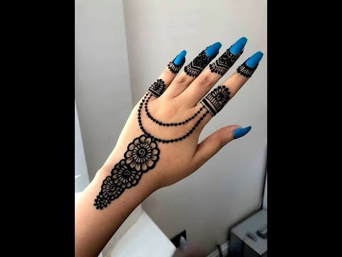 How To Apply Easy Simple Jewellery Ornamental Henna Mehndi Designs
