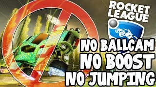 SquiddyPlays - ROCKET LEAGUE! - NO BALLCAM, BOOST OR JUMPING CHALLENGE?!!