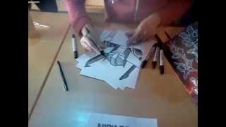 Drawing Wheeljack - Nick Roche (Heroes & Legends Convention, Belfast, Feb. 2012)