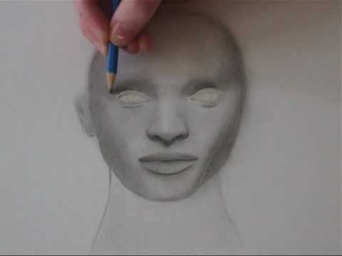 How to draw a realistic human head pencil realism