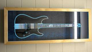 Guitar Display Case With Smd5050 Rgb Led Lighting