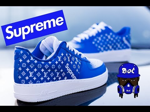 How To : Louis Vuitton Custom Supreme Shoes ( Angelus )
