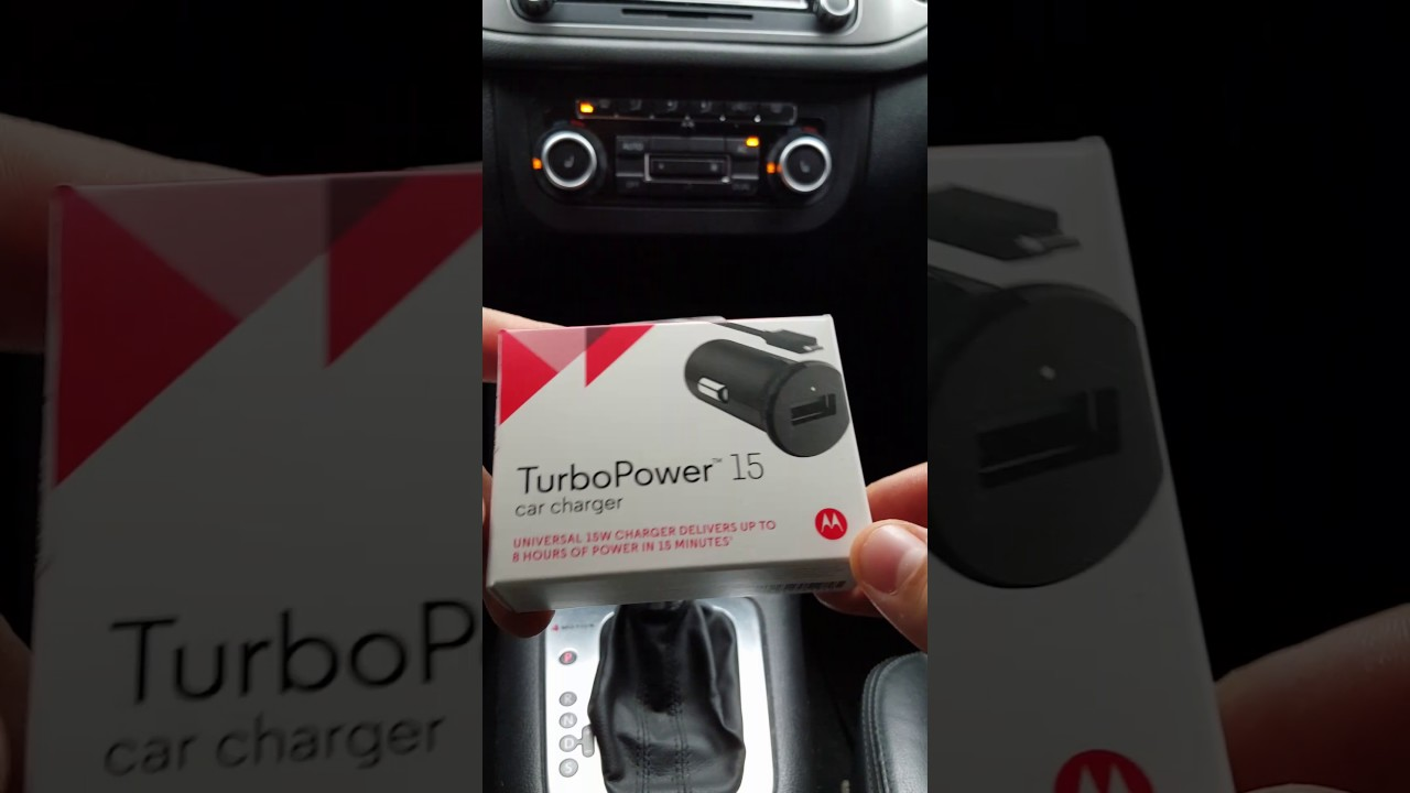 ae6134af4 Carregador Veicular TurboPower ( Car Charger ) Original Motorola 15w -  YouTube