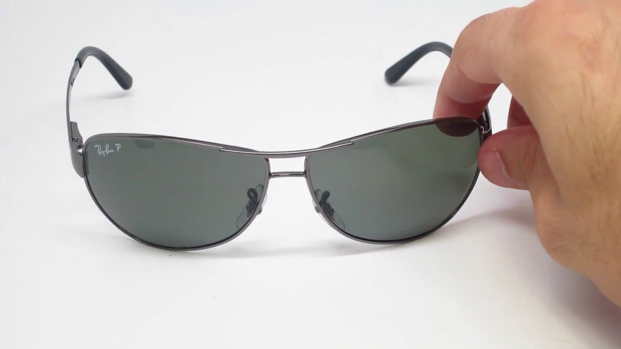 5b4495a7a4 Ray Ban RB 3342 Warrior 004 58 Sunglasses Close Look - YouTube