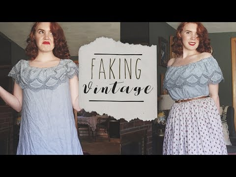 """Faking"" Vintage 
