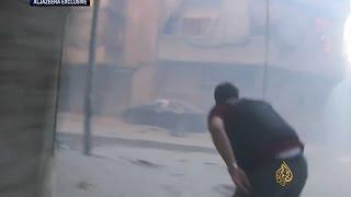ضرب حلب بالقنابل الفسفورية