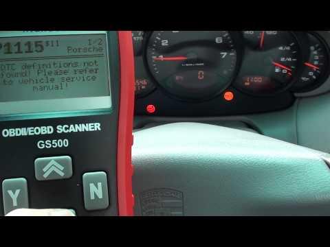 Porsche o2 Sensor Fault Codes P1115 P0134 Diagnose Autel GS500 - YouTube