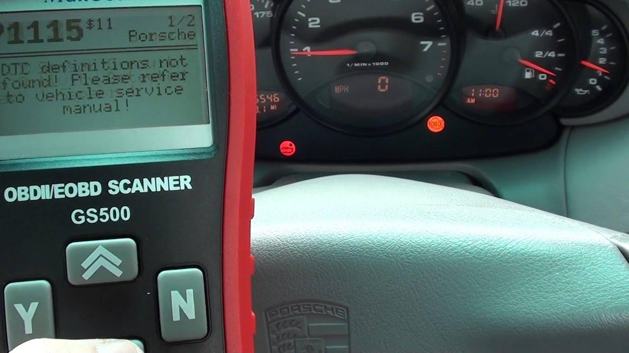 Porsche o2 Sensor Fault Codes P1115 P0134 Diagnose Autel GS500
