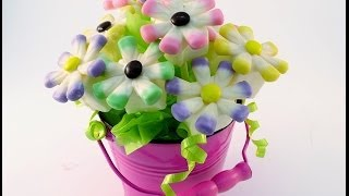 How To Make An Edible Candy Flower Bouquet | Radacutlery.com