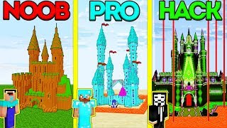 Minecraft Battle Noob Vs Pro Vs Hacker Safest Castle Base Challenge In Minecraft Animation