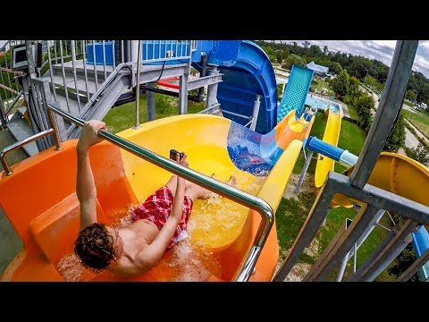 Spa and Wellness Center Sárvár   Kamikaze Waterslide Onride POV