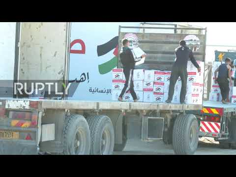 State of Palestine: Egypt's El-Sisi offers large aid convoy to Gaza