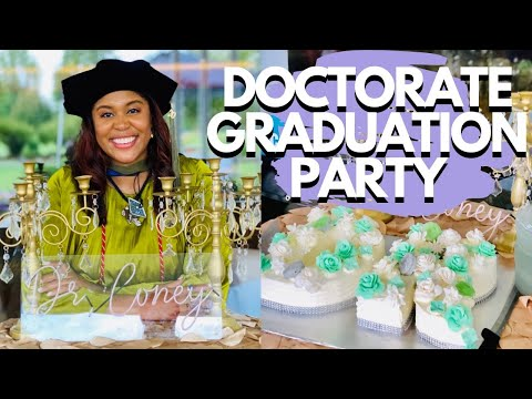 PLAN WITH ME - Doctorate Graduation Party   Flint, Michigan