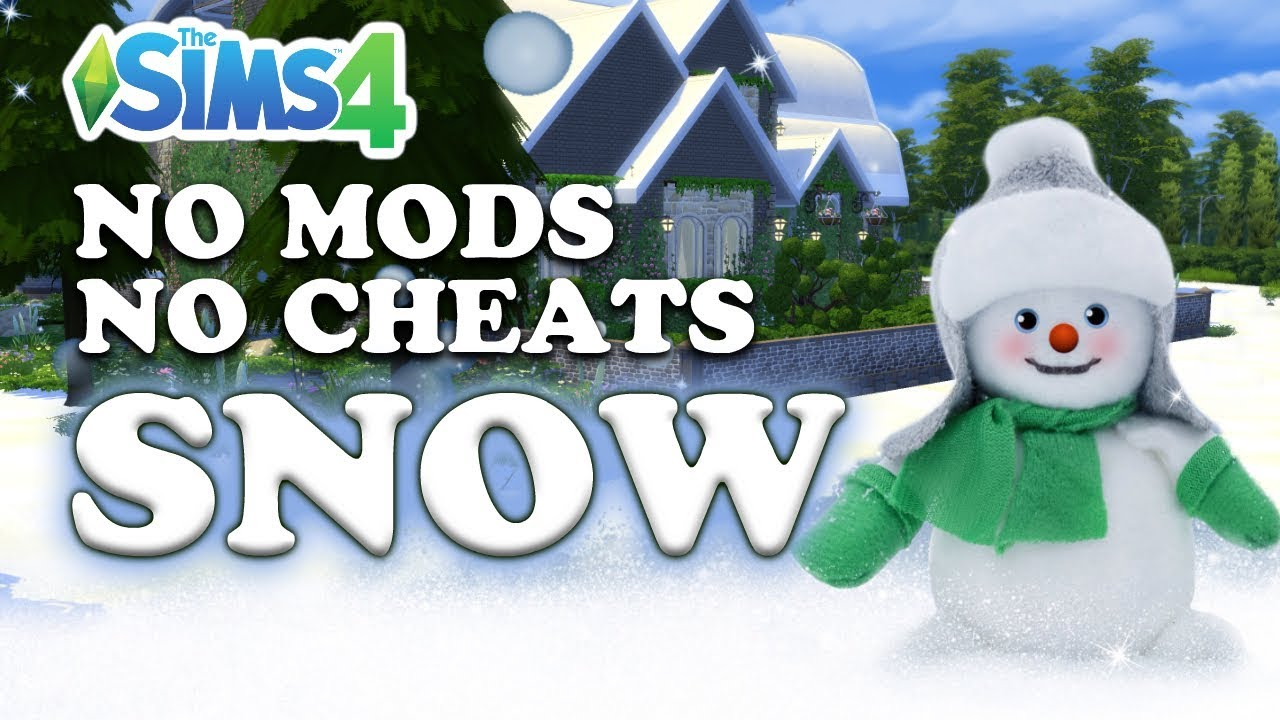 the sims 4 how to make snow no mods no cheats by joy youtube