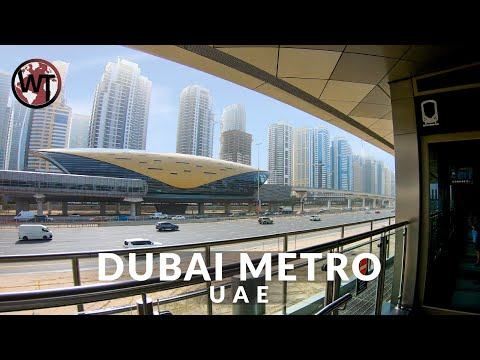 Dubai Marina Tram Ride - 🇦🇪 United Arab Emirates - 4K Walking Tour