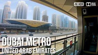 4k Virtual Tour   Dubai Marina Tram Ride   🇦🇪 United Arab Emirates