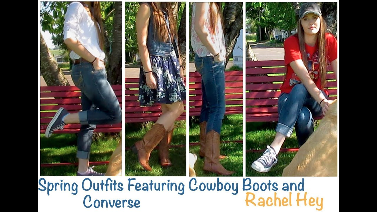 spring outfits featuring cowboy boots and converse youtube