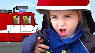 Fun Play Professions Fireman - Story with Nadia