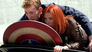Captain America: The Winter Soldier B-Roll Footage #3 (2014) Chris Evans HD