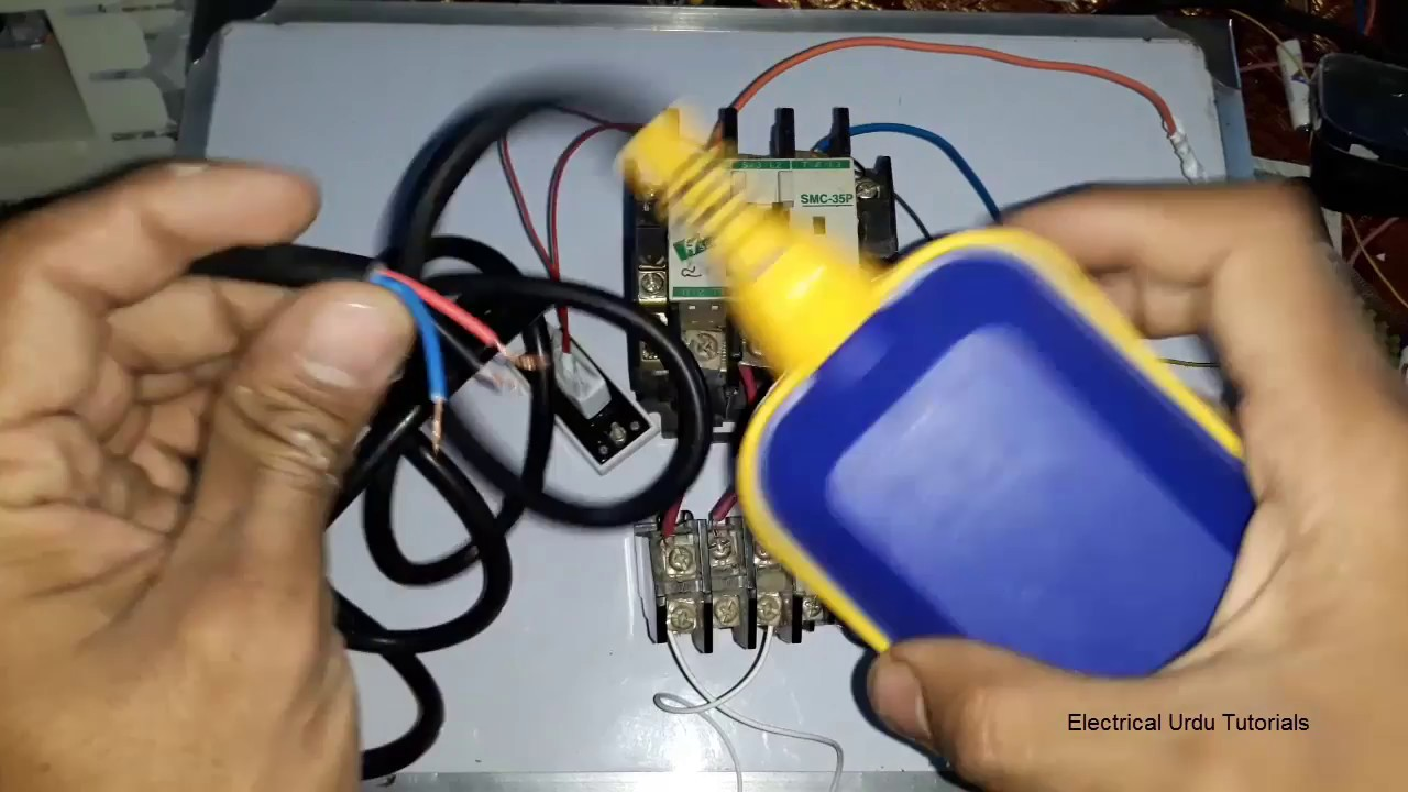 water pump motor automatic on  off using float switch  urdu