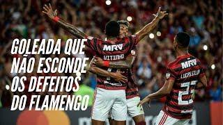 Flamengo goleia como estivesse no Estadual, mas defeitos do time reaparecem e defesa assusta