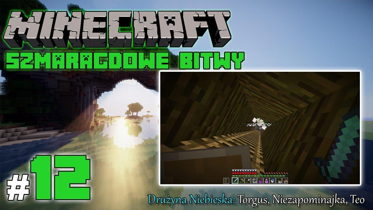 """Minecraft: Szmaragdowe Bitwy [Drużyna Niebieska] odc. 12 – """"Antywłamaniowe drabinki"""""""