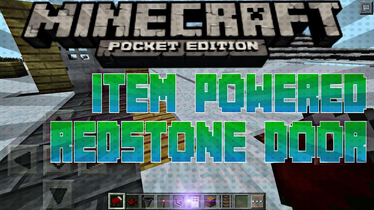 MCPE:How to make Item Powered Redstone Doors (Pocket Edition 0.14.0+) & ITEM POWERED DOORS????? MCPE:How to make Item Powered Redstone ... Pezcame.Com