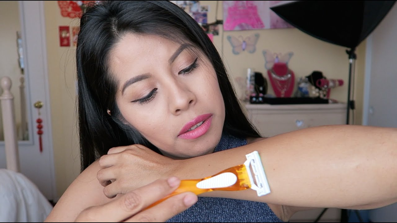 HOW TO GET RID OF ARM HAIR | ARMS AND HANDS SHAVING - YouTube