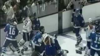 Quebec Nordiques-montreal Canadiens Bench Clearing Brawl Part2