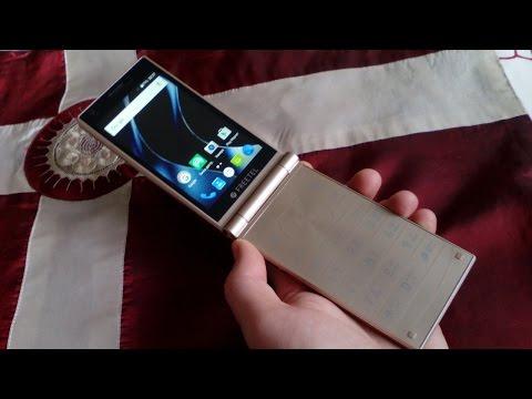 FREETEL MUSASHI Japanese Flip Phone in GOLD instead of SAMSUNG SM-W2017