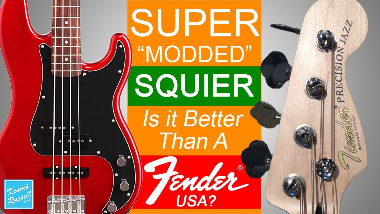 medium resolution of did i just mod a squier bass better than an american fender