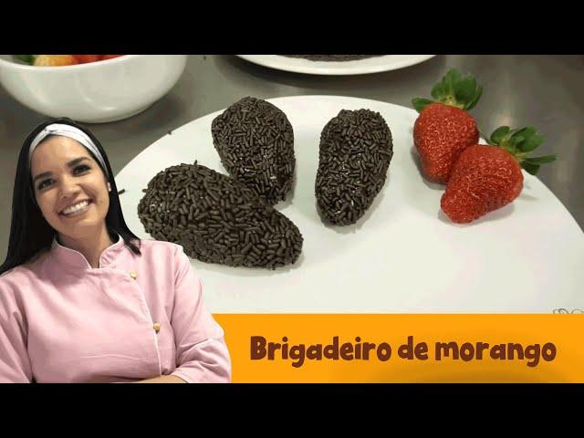 Brigadeiro de morango   Cacau Foods