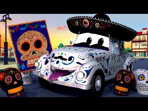 Авто Патруль -  Машина СКЕЛЕТ (Праздник мёртвых) - Автомобильный Город  🚓 🚒 детский мультфильм