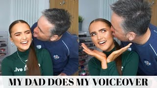 My Dad Does My Voiceover Loool- Everyday Makeup Routine | Adina May