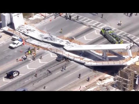 "Witnesses describe harrowing Florida bridge collapse: ""It's totally smashed to the ground"""