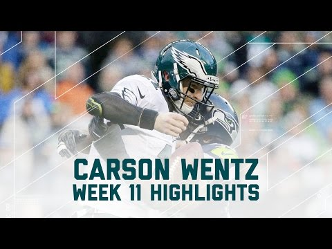 Carson Wentz Tosses 2 TDs & 2 INTs | Eagles vs. Seahawks | NFL Week 11 Player Highlights
