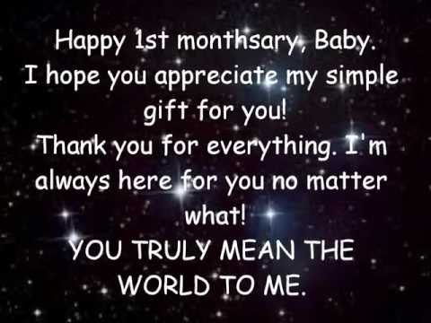Happy 4th Monthsary Baby Happy 1st Monthsary Baby