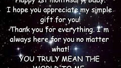Monthsary greetings for babe free music download happy 1st monthsary baby m4hsunfo