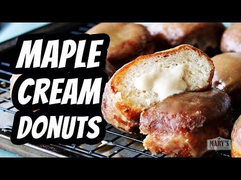 vegan-maple-cream-doughnuts-|-recipe-by-mary's-test-kitchen
