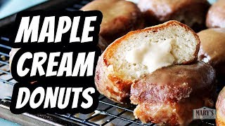 VEGAN MAPLE CREAM DOUGHNUTS | Recipe by Mary