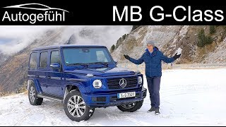 Mercedes G-Class FULL REVIEW onroad vs gravel vs snow :o) 2020 all-new G350d Wagon - Autogefühl