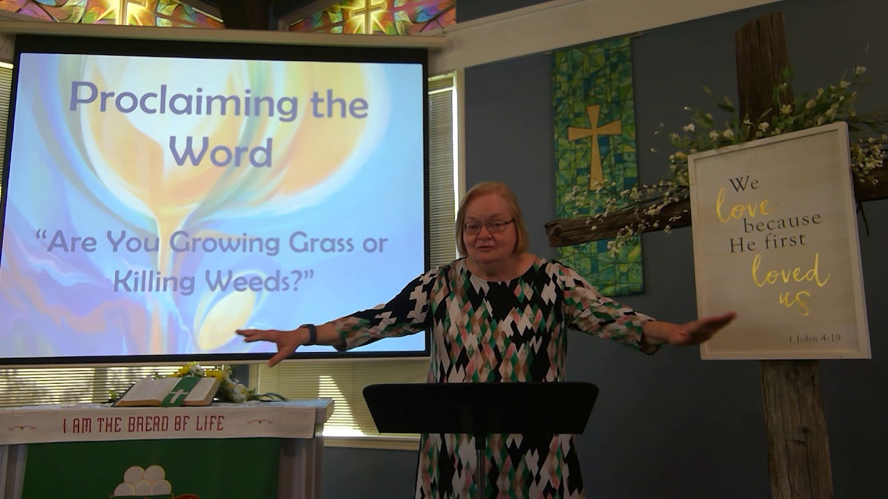 "July 19, 2020 ~ Rev. Julia Price ~ ""Are You Growing Grass Or Killing Weeds?"""