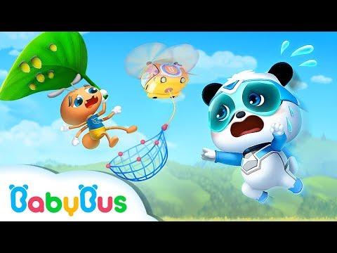 Action! Super Panda & Helicopter | Super Panda Rescue Team | BabyBus Cartoon