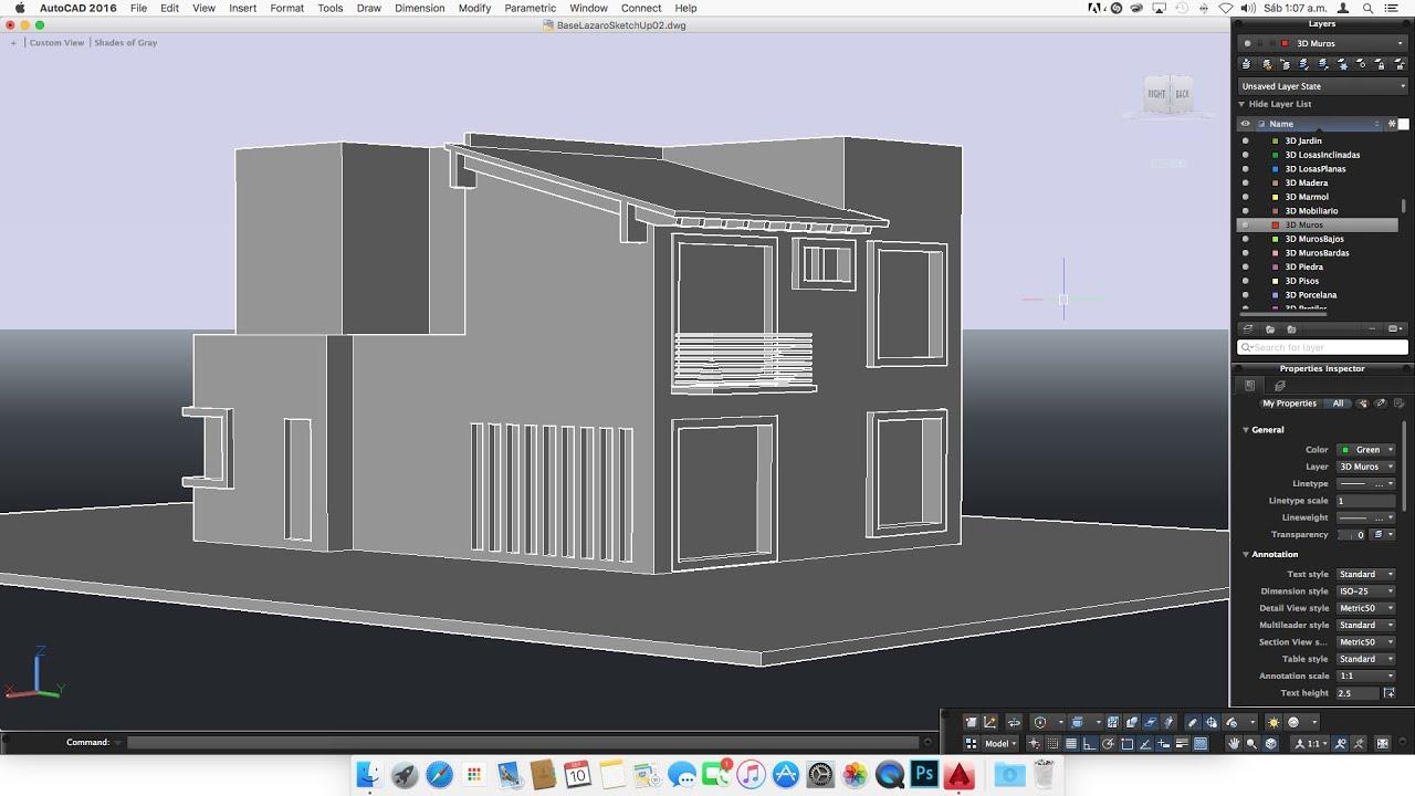 06 como modelar una casa 3d en autocad para mac - Cad casa gratis ...