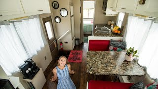 They Renovated A 1989 RV Into A Beautiful Budget Tiny House