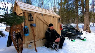 Bringing Snowmobile Camper Home + New Hydraulic Kit on Old Tractor / Log Cabin Update- Ep 11.8