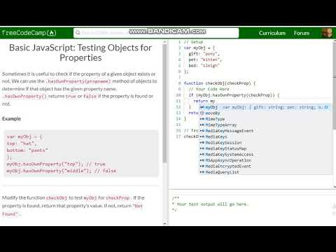 testing objects for properties free code camp