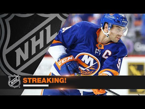 Islanders light the lamp in 17 straight periods